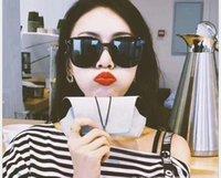 quadratische koreanische sonnenbrille großhandel-Korean Retro Sonnenbrille Retro Quadrat Männer und Frauen Brille Sonnenbrille