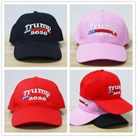 fd467825 Embroidery Trump 2020 Make America Great Again Donald Trump Baseball Caps  Hats Re-Election Baseball Caps Adults Sports Hats Black Pink Red