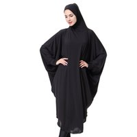 ingrosso cardigan lungo maniche da pipistrello-Casual Musulmano Abaya Bat Sleeve Maxi Dress Cardigan Allentato Lungo Abiti Robe Ramadan Turchia Islamic Prayer Abbigliamento Hijab robe 4.12