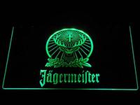 luz da noite de publicidade venda por atacado-Alemanha Publicidade luz Led Logo Jagermeister Veados LEVOU Sinal de Néon Noite Luz Decorativa Atmosfera