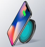 cargador inalámbrico portátil para iphone al por mayor-Entrega rápida Cargador de teléfono inalámbrico Qi Portable Fantasy Ultra-delgado Universal Iluminación LED Carga para Samsung Galaxy S8 Iphone 8