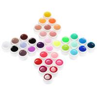 36 geles uv al por mayor-Mee_You 36 colores Nail Gel Art Polish Pigment UV Gel Set MY0042