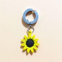 göbek delici çiçek toptan satış-YENI Üst Marka Ayçiçeği Çiçek Cerrahi Çelik sahte Belly Button Yüzük Göbek hiçbir Piercing Vücut Takı