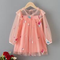 Wholesale flowers girls frock resale online - Summer Unicorn Dresses For Girls Kids Lace Flower Vestidos Children Birthday Party Dress Girl Casual Elegant Princess Frocks