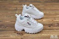 erkek kızlar gündelik beyaz ayakkabılar toptan satış-Original FILA Disruptors II 2 Bebek Çocuk Orijinal Rahat Ayakkabılar Beyaz Pembe Erkek Kız II 2 Çocuk DOSYA özel bölüm spor sneaker koşu ayakkabıları artan boyutu 28-35