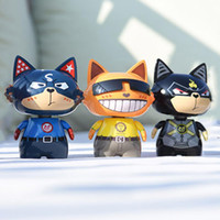 Wholesale pvc swings for sale - Group buy Car Ornaments PVC Shaking Head Cartoon Cat Shaped Silicone Swing Car Decor Toys Cute Cat Cartoon Figurines Accessories Gift