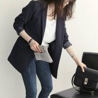 chaquetas ol al por mayor-Chaquetas y chaquetas de las mujeres un botón moda traje de las mujeres salvaje OL temperamento chaqueta profesional desgaste oficina señoras guardapolvos