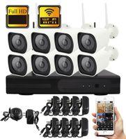 8ch ip kamera nvr großhandel-YobangSecurity 8CH Wireless-CCTV-Kamera-System Wasserdichte 960P IP-Kamera WIFI NVR Kit Outdoor Security Videoüberwachungssystem