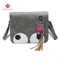 Wholesale leather bags hot pink online - Pink sugao designer shoulder bags women purses luxury crossbody bags hot sales cartoon cute with big eyes shoulder bag pu leather