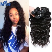Wholesale eurasian human hair weave for sale - Group buy MikeHAIR Peruvian Indian Malaysian Eurasian Brazilian Deep Body Wave Human Hair Weaves Bundles Cheap Wavy Weave Remy Human Hair Extensions