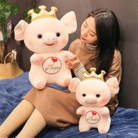 ingrosso decorazioni della corona della principessa-Statuina di peluche figurina cartone animato corona maiali bambole bambola di maiale principessa maiale giocattolo decorazione della casa ornamenti cuscino giocattoli per bambini