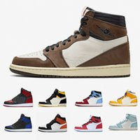Wholesale red high top sneakers resale online - High Low Fearless Mens Basketball shoes s Gold Top Cactus Jack Obsidian Banned Bred Toe Men Women Sports Sneakers