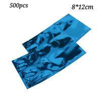 ingrosso confezione di cioccolato in plastica-500pcs 8 * 12cm blu sigillo di calore open top foglio di alluminio sacchetto di imballaggio sottovuoto mylar sacchetto di imballaggio di plastica cioccolato e bustina di tè