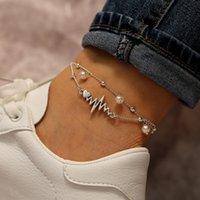 neue ankunfts-fußkettchen großhandel-Modeschmuck 2019 meistverkaufte Frauen Perle Fußkettchen neue Ankunft Großhandel benutzerdefinierte Fußkettchen Körper piercing Schmuck