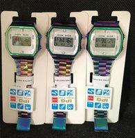 самые тонкие часы оптовых-Лучший бренд светодиодные часы Модные ультратонкие цифровые светодиодные наручные часы VS F91W Мужчины Женщины Спортивные часы VS умные часы