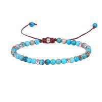 ingrosso blu guarisce-Estate naturale blu imperatore pietre bracciali perline regolabili braccialetto fatto a mano guarigione gioielli regalo per le donne in stile classico