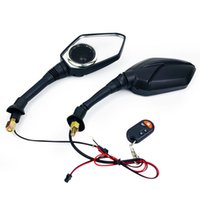 Wholesale mirrors radio resale online - Motorcycle Bluetooth Audio Alarm Sound System MP3 FM Radio Player Speakers Anti theft Rearview Mirrors Scooter mm mm Mirror