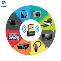 Wholesale ethernet transmitter resale online - Mini Wireless USB Bluetooth mhz Mbps CSR4 Adapter Dongle Portable Transmitter for PC Tablet Win XP Vista