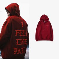 Wholesale hip hop for sale - Brand New I Feel Like Pablo Hoodie Hip Hop Street Sport Mens Designer Hoodies Fashion Pullover Sweatshirt