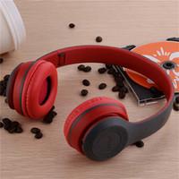 Wholesale bluetooth headphones tf card resale online - P47 Wireless Bluetooth Headphones Gaming Headset Stereo Music Support TF Card Foldable Headband Headphone On ear Headset DHL