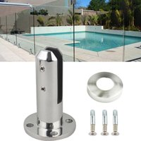 Wholesale pool fence resale online - Fence Clamp Pool Accessories Stainless Steel Spigots Tempered Glass Balustrade Railing Balcony Glass Fence Clamp Swim Pool Feet