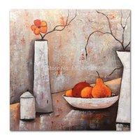 mutfak için yağlı boya tuvali toptan satış-Mintura Sanat El Boyalı Modern Soyut Yağlıboya Tuval Üzerine Wall Art Ev Dekorasyon Resimleri Için Oturma Odası Mutfak Dekoratif