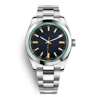 relógios de homem de negócios venda por atacado-Mens Black Watch 40 milímetros Movimento Automático Inox Relógios Homens 2813 Designer Mecânica Light Blue relógios de pulso Fashion Business