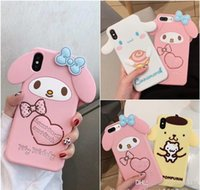 Wholesale melody case for sale – best Lovely dog iPhoneXsMax mobile phone case XR Melody for Splus anti drop silicone case