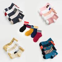 ingrosso calzini per animali da compagnia-Bambini calzini sportivi coreani casual bambini cotone animali banda striscia caviglia ragazzi ragazze bambino progettista calzini calzini calzino corridore