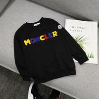 marca de suéter para niños al por mayor-Ropa infantil moda casual niños con capucha suéter chico marca infantil suéter lindo 3006