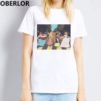 roupa do bebê do kawaii venda por atacado-Engraçado Mulheres Camiseta Sexta Princesa 90 s Moda Bebê Tops Harajuku Feminino Camiseta Gótico Gráfico Tees Kawaii Shein Coreano Roupas