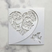 Wholesale baby blue wedding table for sale - Group buy 25pcs Square Laser Cut Heart Baby Patterns Love Cards Wedding Name Cards For Wedding Party Table Decoration Wedding Decor