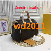 Wholesale pillow style handbags resale online - hot Luxury top quality brand Genuine leather Women Famous Handbags Designer Shoulder Bag with lock and date code cm cm cm
