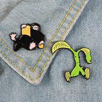 Wholesale brooch fans resale online - Niffler Pickett Enamel Pin Fantastic Beasts Bowtruckle badge brooch Lapel pin Denim Shirt Collar Cartoon Jewelry Gift for Fans