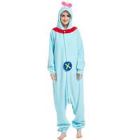 sıcak kigurumi toptan satış-Sıcak Popüler Yetişkin Kigurumi Onesie Pijama Polar Polar Pijama Cadılar Bayramı Tek parça Tulum Pijama Cosplay Için