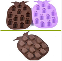 Wholesale pineapple ice mold resale online - 200PCS Ice Cream Tools High quality New Ice Maker Mould Bar Party Drink Pineapple Shape Ice Cube Freeze Mold tray