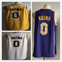 Wholesale polo jersey shirt online - 0 Kyle Lakers Kuzma Men s Basketball Jerseys New season Fashion Mens polo shirt White Yellow Purple Men Sport Jersey