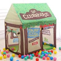 zelthäuser großhandel-Cartoon Baby Spielzeug Zelt Kinder Baum Spielhaus Kinder Privater Raum Ersatz Zimmer Spielen Prinzessin Spielzeug Zelt