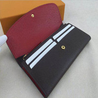 Wholesale original box luxury real leather multicolor coin purse long wallet Card holder women man classic zipper pocket