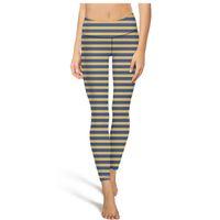 siyah şerit tozluk toptan satış-St louis blues sarı mavi şerit yoga pantolon yüksek bel yoga pantolon bayan spor yoga pantolon elastik moda tayt kamuflaj tozluk siyah