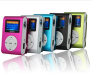 Wholesale sd mp3 player silver for sale - Group buy Mini MP3 Player with Clip Mini LCD Screen Support GB Micro SD TF Card Portable Sports MP3 player come with earphone and usb cable