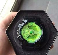 dalış kronografı toptan satış-2019 İZLE erkek spor İzle Şok Erkekler Saatler Dalış Erkek Saatler ETIKETI Chronograph LED Dijital Askeri Saatı
