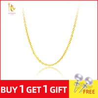 Wholesale cost gold resale online - NYMPH Genuine K White Yellow Rose Gold Chain Cost Price Sale Pure Gold Necklace Best Gift For Women G1001
