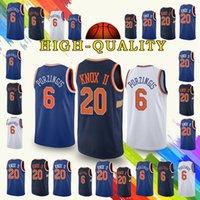 0cf4bf4ca Wholesale knicks basketball for sale - promotion New York Kristaps  Porzingis Jersey Knicks Kevin Knox Jerseys