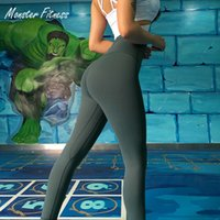 leggings de entrenamiento negros al por mayor-2018 Pantalones de yoga Leggings deportivos negros Cintura alta Push Up Workout Gym Running Workout Fitness Sport Leggings para mujeres