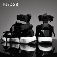 Wholesale shoes canvas injection for sale - Group buy KJEDGB New Fashion Summer Mens Shoes Gladiator Sandals Designers Platform Comfortable Beach Sandals Male Canvas Men