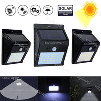 Wholesale solar panel for sale - Group buy Solar Security Lights Motion Sensor LED Solar Panels Power Waterproof For Outdoor Garden Wall Hot Sale EUB