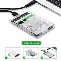 ssd harici sürücüler toptan satış-Sabit Disk USB 3.0 SATA Harici 2.5 inç HDD SSD Muhafaza Kutusu Şeffaf Kılıf Kapak