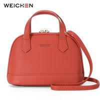 мягкая синтетическая кожаная сумка оптовых- Designer Shell Shoulder & Handbag For Women Soft Synthetic Leather Messenger Crossbody Female Bag Ladies Tote Girls Sac