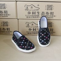 Wholesale old peking shoes for sale - Group buy Handmade baby boy girl shoes Old Peking spring autumn little girl cloth shoes children Lightweight Fabric shoes
